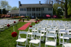 Ceremony site at Swan Harbor Farm