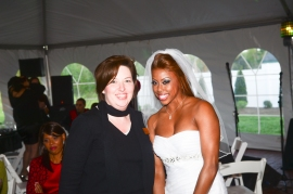 The bride and her wedding planner!