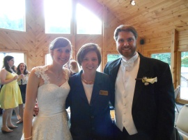 The Bride and Groom with their Wedding Planner!